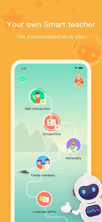 Application to learn Chinese online on Android phones